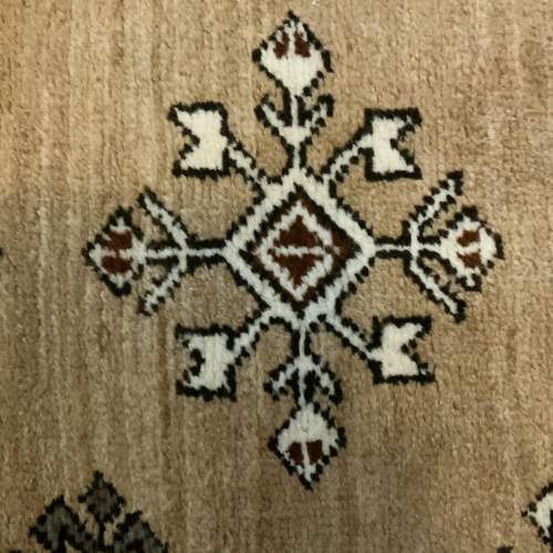 Old Hand Knotted Afghan Village Rug Very Unusual Piece Superb image-5