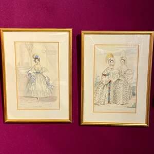 Pair of 19th Century Fashion Engravings