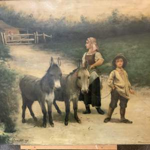 Flemish Oil On Canvas Signed Beukeboom All 1892 Superb Quality