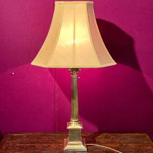 20th Century Brass Table Lamp