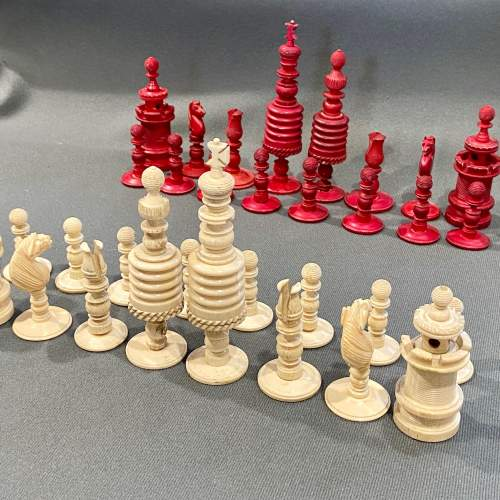 Victorian Carved Bone Chess Set image-1