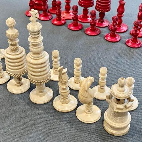 Victorian Carved Bone Chess Set image-3