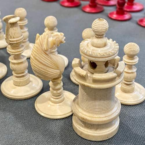 Victorian Carved Bone Chess Set image-4