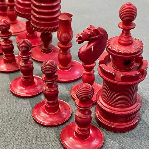 Victorian Carved Bone Chess Set image-5
