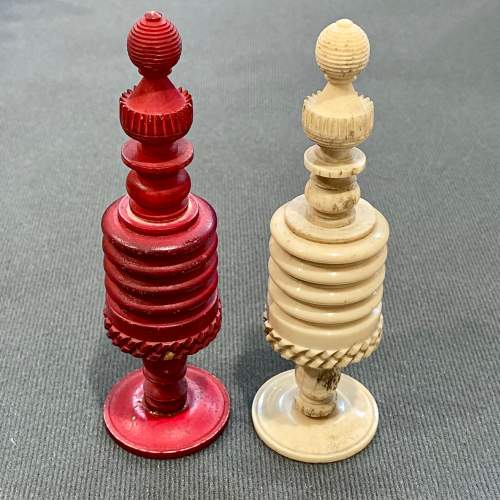 Victorian Carved Bone Chess Set image-6