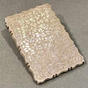 Ornate Victorian Silver Card Case
