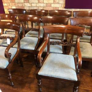 Set of Ten Regency Period Mahogany Dining Chairs