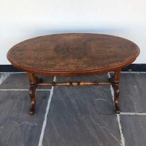 Victorian Burr Walnut Low Table
