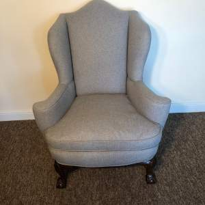 Late 19th Century Wingback Armchair