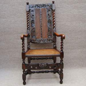 17th Century Walnut Carver Chair