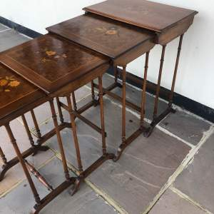 Edwardian Inlaid Nest of Tables