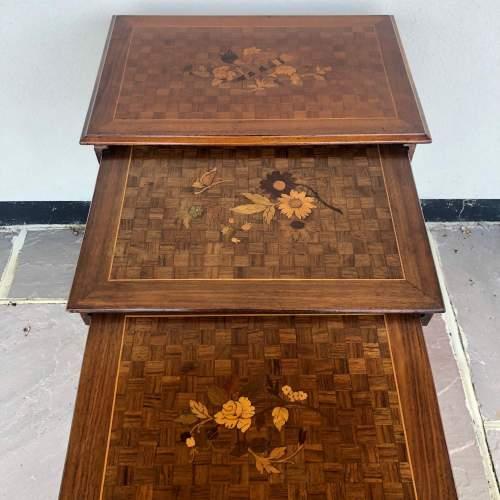 Edwardian Inlaid Nest of Tables image-3