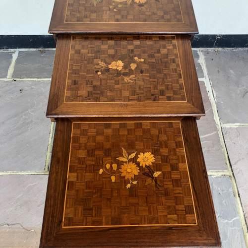 Edwardian Inlaid Nest of Tables image-4