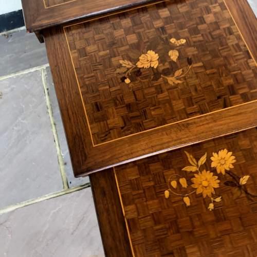 Edwardian Inlaid Nest of Tables image-5