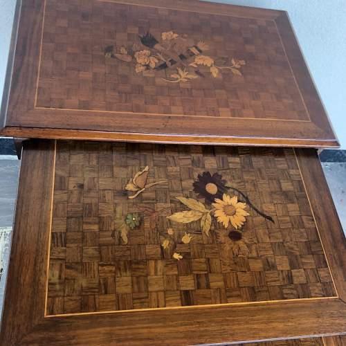 Edwardian Inlaid Nest of Tables image-6