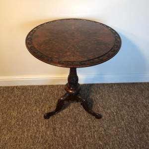 Victorian Burr Walnut Occasional Table