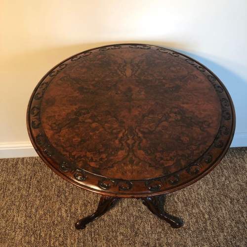 Victorian Burr Walnut Occasional Table image-3