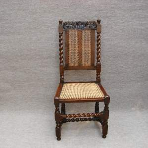 17th Century Barleytwist Walnut Chair