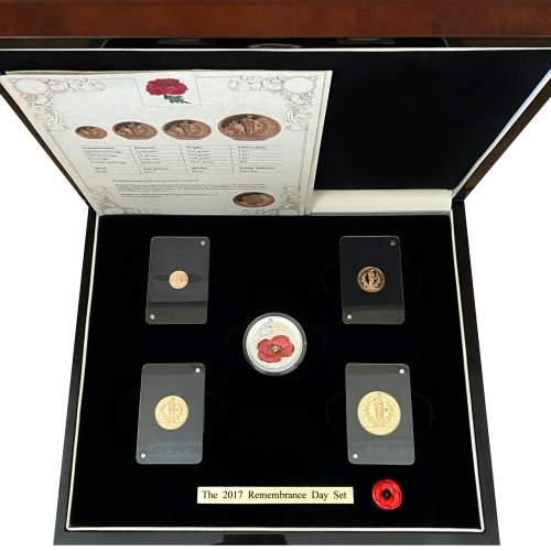 2017 Remembrance Day Gold Proof Coin Set image-1