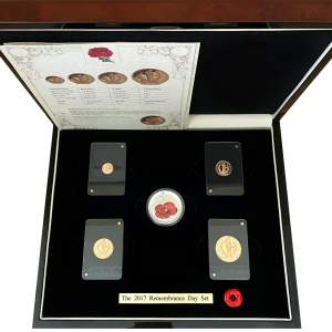 2017 Remembrance Day Gold Proof Coin Set