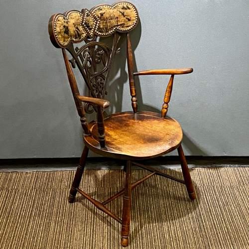 19th Century Queen Victoria Diamond Jubilee Commemorative Chair image-1