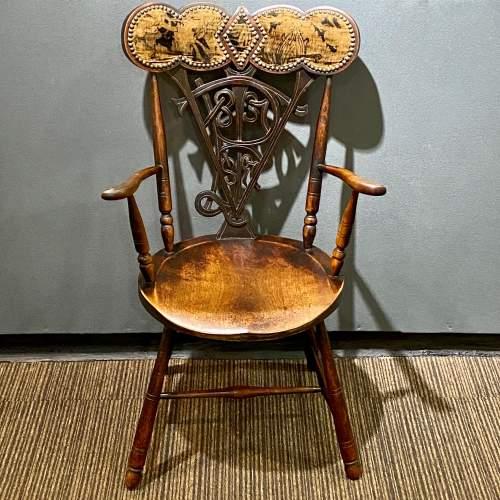 19th Century Queen Victoria Diamond Jubilee Commemorative Chair image-2