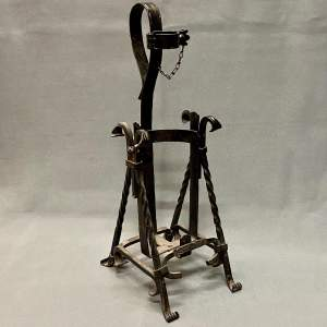 Vintage German Wrought Iron Bottle Pourer