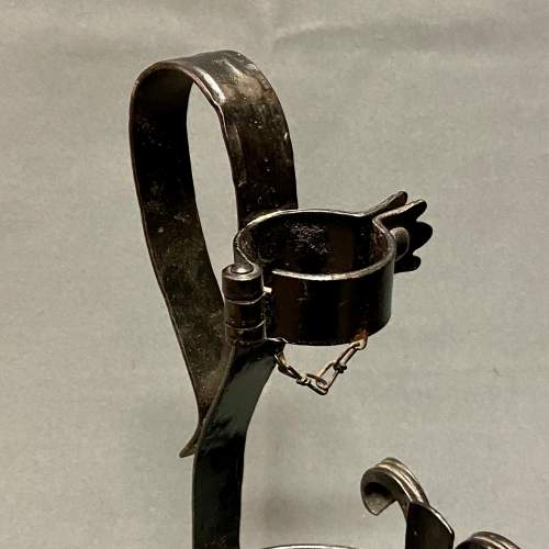 Vintage German Wrought Iron Bottle Pourer image-4