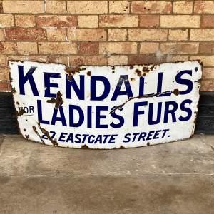 Vintage Kendalls Advertising Enamel Sign