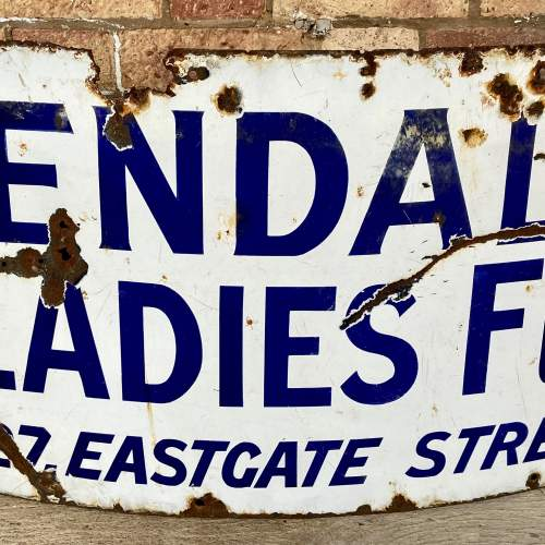 Vintage Kendalls Advertising Enamel Sign image-3