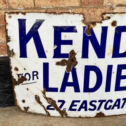 Vintage Kendalls Advertising Enamel Sign image-2