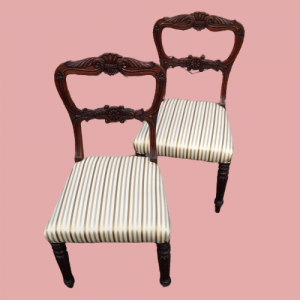 Pair Of Victorian Rosewood Chairs