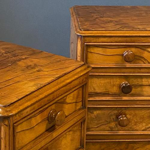 Pair of Victorian Burr Walnut Bedside Cabinets image-5