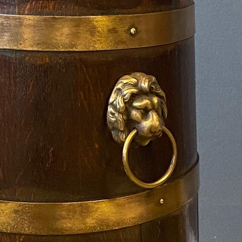 Oak Coopered Brass Bound Sticks Stand image-3