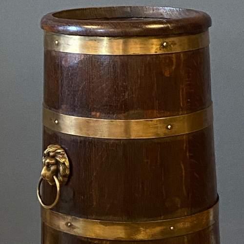 Oak Coopered Brass Bound Sticks Stand image-4