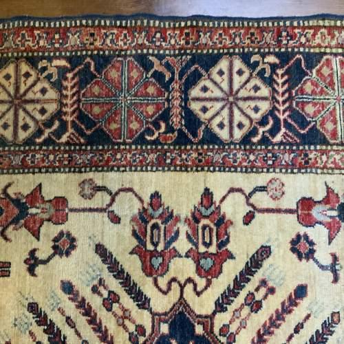 Superb Quality Hand Knotted Afghan Rug Central Medallion Design image-6