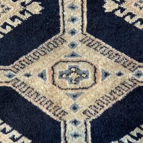 Stunning Hand Knotted Kashmir Rug Repeating Medallion Design image-6