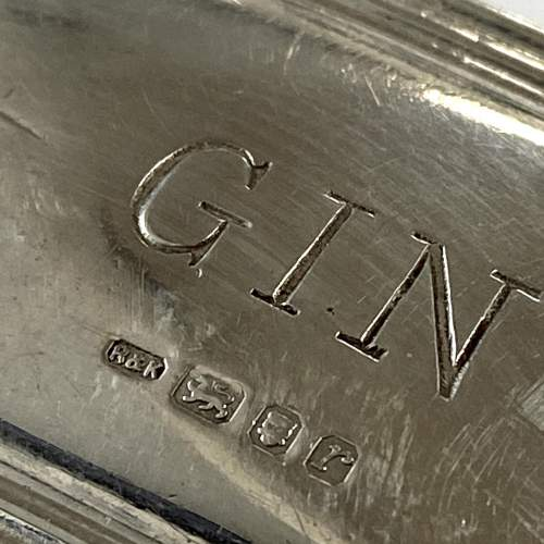 Sterling Silver Gin Decanter Label image-4
