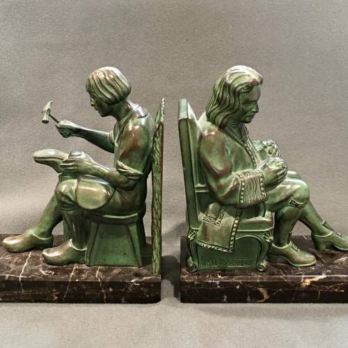 Pair of Max Le Verrier Bronze Bookends image-2