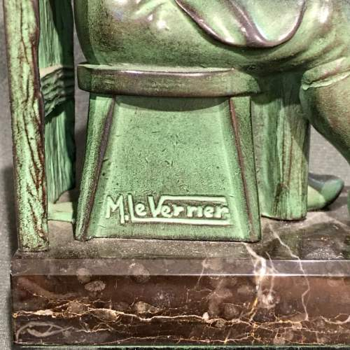 Pair of Max Le Verrier Bronze Bookends image-6