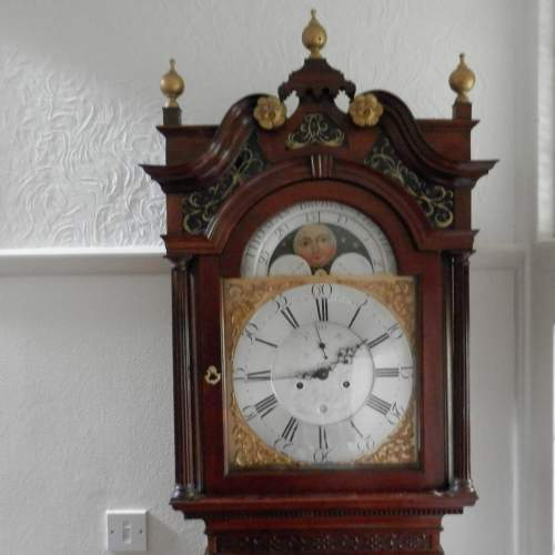 Georgian Longcase Clock by Thomas Brown of Chester image-1