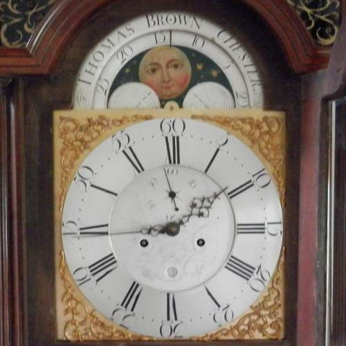 Georgian Longcase Clock by Thomas Brown of Chester image-2