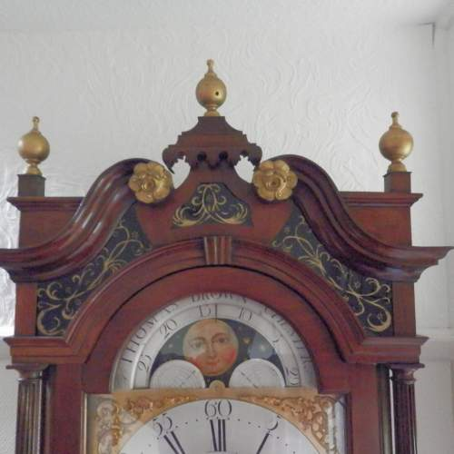 Georgian Longcase Clock by Thomas Brown of Chester image-3