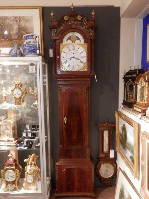 Georgian Longcase Clock by Thomas Brown of Chester image-5