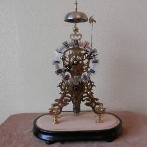 English Skeleton Clock by Evans of Handsworth