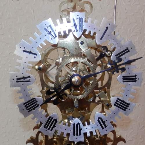 English Skeleton Clock by Evans of Handsworth image-2