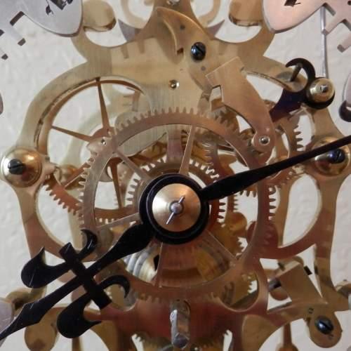 English Skeleton Clock by Evans of Handsworth image-3