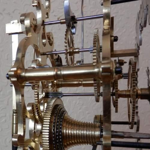 English Skeleton Clock by Evans of Handsworth image-4