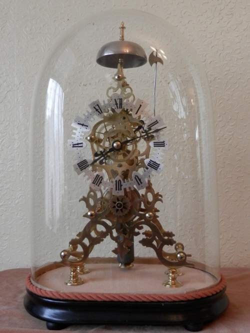 English Skeleton Clock by Evans of Handsworth image-5
