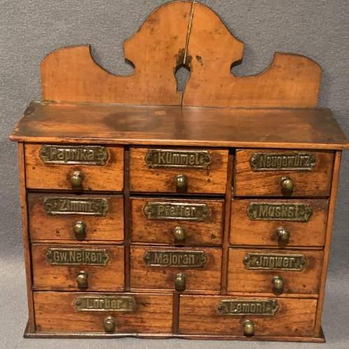Vintage Wooden Spice Drawers image-1